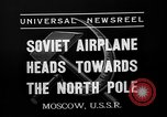 Image of Russian aviators depart Moscow in flight to North Pole Moscow Russia Soviet Union, 1937, second 12 stock footage video 65675073020