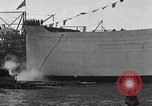 Image of ship launching Kearny New Jersey USA, 1918, second 51 stock footage video 65675073064
