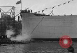 Image of ship launching Kearny New Jersey USA, 1918, second 52 stock footage video 65675073064