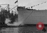 Image of ship launching Kearny New Jersey USA, 1918, second 53 stock footage video 65675073064