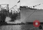 Image of ship launching Kearny New Jersey USA, 1918, second 54 stock footage video 65675073064