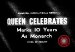 Image of Queen Elizabeth 10th anniversary United Kingdom, 1963, second 1 stock footage video 65675073170