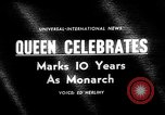 Image of Queen Elizabeth 10th anniversary United Kingdom, 1963, second 2 stock footage video 65675073170