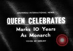 Image of Queen Elizabeth 10th anniversary United Kingdom, 1963, second 3 stock footage video 65675073170