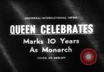 Image of Queen Elizabeth 10th anniversary United Kingdom, 1963, second 4 stock footage video 65675073170