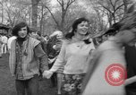 Image of hippies at a Detroit love-in Detroit Michigan USA, 1967, second 32 stock footage video 65675073277