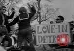 Image of hippies at a Detroit love-in Detroit Michigan USA, 1967, second 44 stock footage video 65675073277