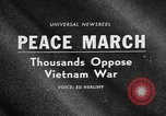 Image of Anti Vietnam War march New York City USA, 1967, second 2 stock footage video 65675073293