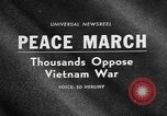 Image of Anti Vietnam War march New York City USA, 1967, second 5 stock footage video 65675073293