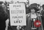 Image of Anti Vietnam War march New York City USA, 1967, second 28 stock footage video 65675073293