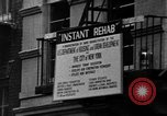 Image of instant rehabilitation New York  City USA, 1967, second 30 stock footage video 65675073296
