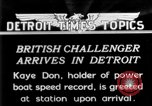 Image of Speedboat racing Detroit Michigan USA, 1931, second 1 stock footage video 65675073335