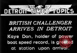 Image of Speedboat racing Detroit Michigan USA, 1931, second 4 stock footage video 65675073335