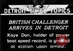 Image of Speedboat racing Detroit Michigan USA, 1931, second 8 stock footage video 65675073335
