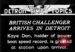Image of Speedboat racing Detroit Michigan USA, 1931, second 9 stock footage video 65675073335