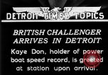 Image of Speedboat racing Detroit Michigan USA, 1931, second 10 stock footage video 65675073335