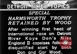 Image of speedboat racing Detroit Michigan USA, 1931, second 9 stock footage video 65675073336