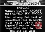 Image of speedboat racing Detroit Michigan USA, 1931, second 11 stock footage video 65675073336