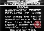 Image of speedboat racing Detroit Michigan USA, 1931, second 12 stock footage video 65675073336