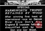 Image of speedboat racing Detroit Michigan USA, 1931, second 13 stock footage video 65675073336
