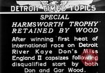 Image of speedboat racing Detroit Michigan USA, 1931, second 14 stock footage video 65675073336