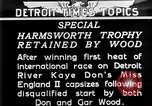 Image of speedboat racing Detroit Michigan USA, 1931, second 15 stock footage video 65675073336