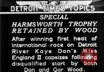 Image of speedboat racing Detroit Michigan USA, 1931, second 16 stock footage video 65675073336
