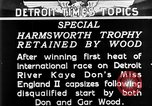 Image of speedboat racing Detroit Michigan USA, 1931, second 17 stock footage video 65675073336