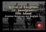 Image of Newly arriving immigrants to America  Ellis Island New York USA, 1906, second 2 stock footage video 65675073417