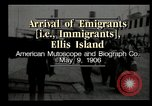 Image of Newly arriving immigrants to America  Ellis Island New York USA, 1906, second 10 stock footage video 65675073417