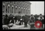 Image of Newly arriving immigrants to America  Ellis Island New York USA, 1906, second 43 stock footage video 65675073417