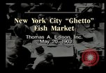 Image of Fulton Fish Market New York United States USA, 1903, second 4 stock footage video 65675073421