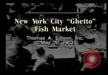 Image of Fulton Fish Market New York United States USA, 1903, second 5 stock footage video 65675073421