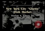 Image of Fulton Fish Market New York United States USA, 1903, second 7 stock footage video 65675073421