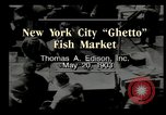Image of Fulton Fish Market New York United States USA, 1903, second 8 stock footage video 65675073421