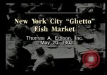 Image of Fulton Fish Market New York United States USA, 1903, second 12 stock footage video 65675073421