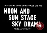 Image of total solar eclipse Minnesota United States USA, 1954, second 3 stock footage video 65675073513