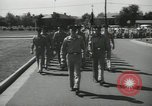 Image of graduation day parade Fort Dix New Jersey USA, 1955, second 8 stock footage video 65675073543