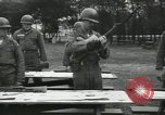 Image of Company E 1st Training Regiment trainees Fort Dix New Jersey USA, 1955, second 24 stock footage video 65675073546