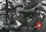 Image of Company E 1st Training Regiment trainees Fort Dix New Jersey USA, 1955, second 28 stock footage video 65675073548
