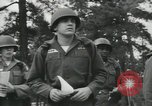 Image of Company E 1st Training Regiment trainees Fort Dix New Jersey USA, 1955, second 29 stock footage video 65675073548