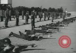 Image of Company E 1st Training Regiment trainees Fort Dix New Jersey USA, 1955, second 32 stock footage video 65675073548