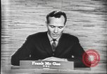 Image of presidential election debate Washington DC USA, 1960, second 62 stock footage video 65675073643