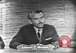 Image of presidential election debate Washington DC USA, 1960, second 8 stock footage video 65675073644