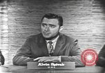 Image of presidential election debate Washington DC USA, 1960, second 16 stock footage video 65675073645