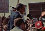 Image of Richard Nixon speaks to automobile workers during energy crisis Saginaw Michigan USA, 1974, second 3 stock footage video 65675073721