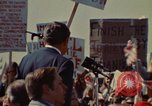 Image of Richard Nixon speaks to automobile workers during energy crisis Saginaw Michigan USA, 1974, second 5 stock footage video 65675073721