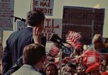 Image of Richard Nixon speaks to automobile workers during energy crisis Saginaw Michigan USA, 1974, second 11 stock footage video 65675073721