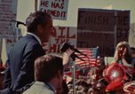 Image of Richard Nixon speaks to automobile workers during energy crisis Saginaw Michigan USA, 1974, second 12 stock footage video 65675073721
