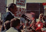 Image of Richard Nixon speaks to automobile workers during energy crisis Saginaw Michigan USA, 1974, second 13 stock footage video 65675073721